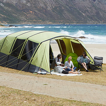 Yellowstone 1 Man Beach Camping Shelter Tent Blau Camping & Outdoor Zelte Lime