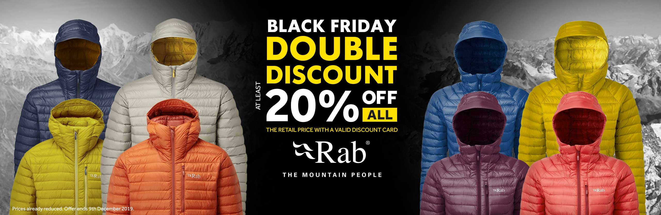 Double Discount on all Rab