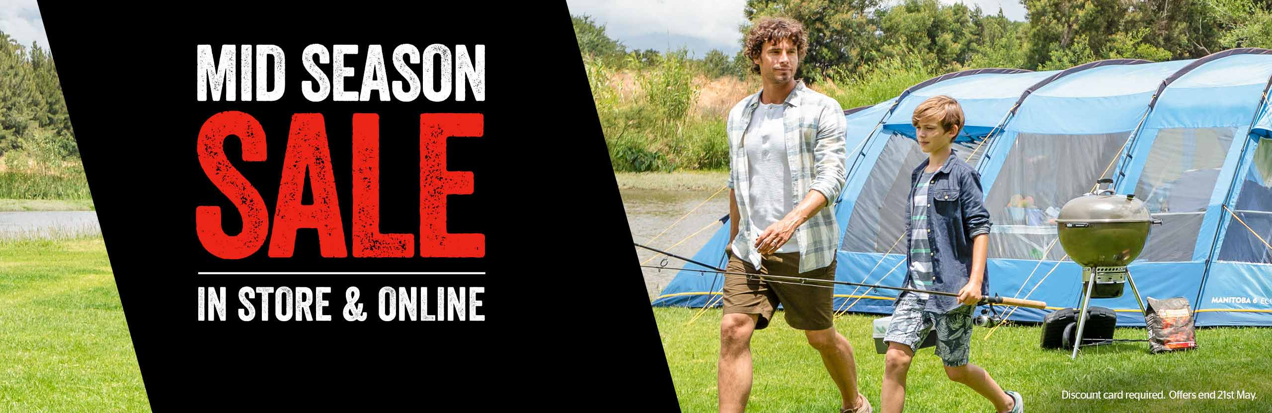 Mid-Season Sale - Tents and Camping - in store and online