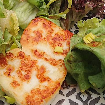 Recipe for Sweet Chilli Grilled Halloumi Salad