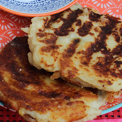 Recipe for Cheese & Onion Potato Cakes
