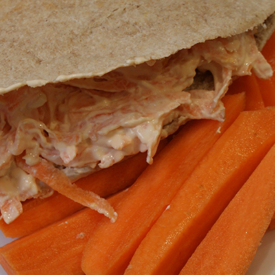 Recipe for Pitta With Soft Cheese